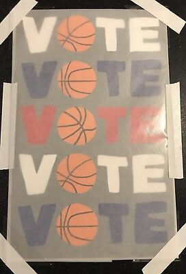 """JONAS WOOD SIGNED """"VOTE"""" Basketball Limited Edition Color Screen Print Sold Out"""