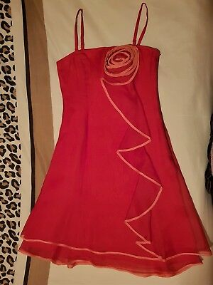 Coast Bright Red Dress UK 8. 100% silk.