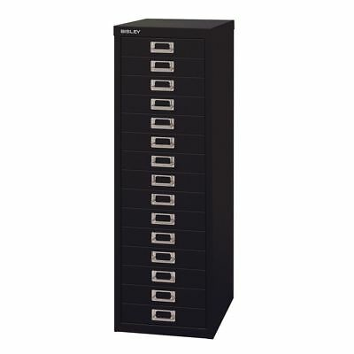15 Drawer Maxi Tall Filing Cabinet Black - QUALITY DURABLE STEEL METAL