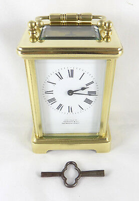 Antique 8 Day Carriage Clock - Hawley & Co., London - Cleaned And Serviced