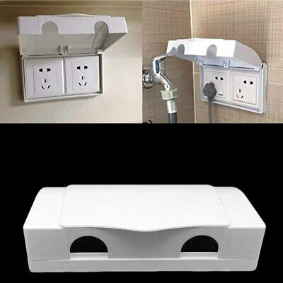 White Double Socket Protector Electric Plug Cover Baby Child Safety Box Nice