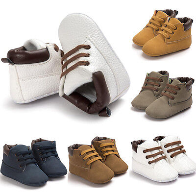 Newborn Baby Boys Girls Soft Sole Crib Shoes Warm Boots Anti-slip Sneakers 2019