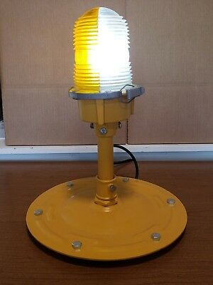 Taxiway Lamp Airport Restored Vintage Runway Light 120 Volt with LED Lighting