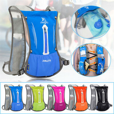 2L Water Bladder Bag Sport Backpack Hydration Packs vest Camelbak Hiking Camping