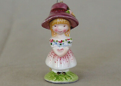 Vtg 1975 Schmid Sprites Flower Girl* Porcelain Figurine Ornament JAPAN EVC+