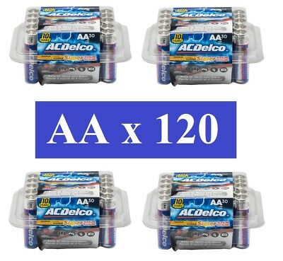 ACDelco AA Batteries Super Alkaline 120 Count Pack FREE SHIPPING! Exp 2028