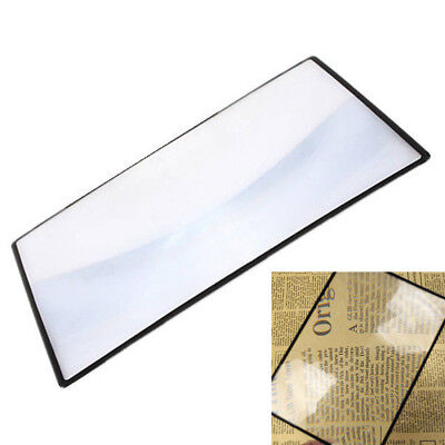 A5 Full Page PVC Magnifying Sheet 3X Big Fresnel Len Magnifier Reading Aid Glass