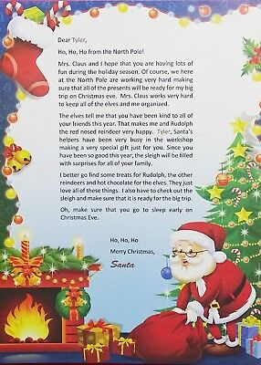 Letter From Santa - Personalized - Free Mailing