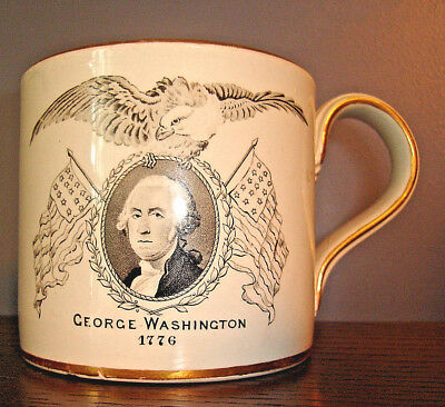 1876 Philadelphia Centennial World's Fair GEORGE WASHINGTON CUP, Copeland China