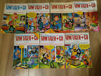 Tom Tiger + Co...7 Comichefte....Condor Verlag....Redaktion clever und Smart