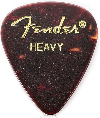 Fender 351 Shape Premium Celluloid Picks - Heavy S