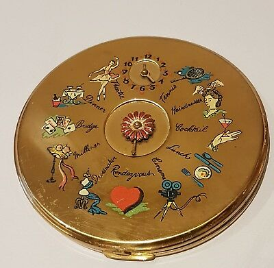 Large Le Rage Rendez Vous / Dial A Date Powder Compact with mirror