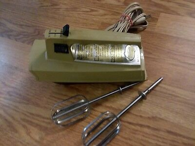 Vintage Sunbeam Mixmaster 5 Speed Hand Mixer With Burst of Power 1970s
