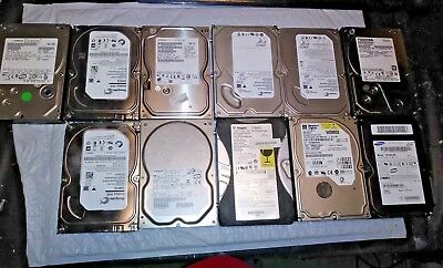 Lot of 11  Mixed Desktop Hard Drives SATA and IDE Untested AS-IS 11-117