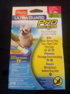 Hartz Ultraguard PRO 15-30 lbs Flea & Tick For Dogs & Puppies 3 App (Z)