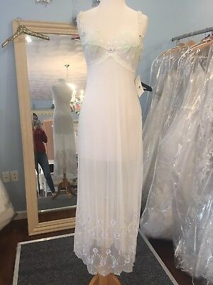 Claire Pettibone Long Night Gown Luxury Lingerie MELINDA BRIDAL LACE S NWT $150