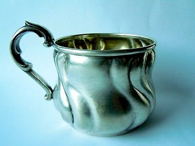 RARE imperial Russian 84 Silver CUP / Glass Holder, Moscow hallmark c.1915-17