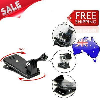 For GoPro Hero 360 Degree Rotary Back Hat Clip Clamp Clips Mounting For MI ~P