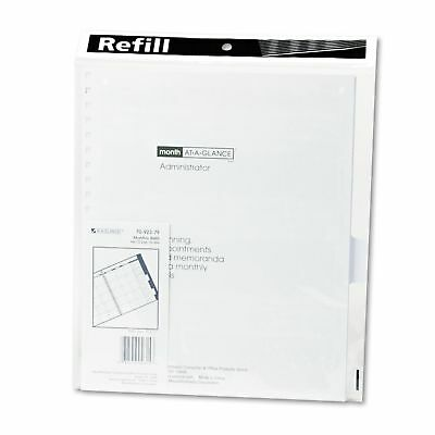 at a glance executive monthly padfolio 9 x 11 white 2019 7029005