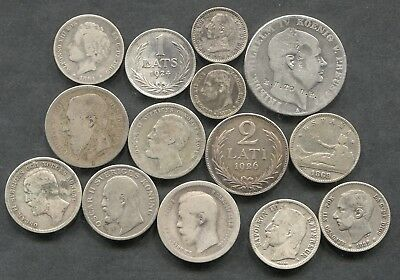 1800's Europe Mixed Lot Of Silver. Total ASW 2.73oz.