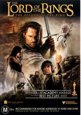 The Lord Of The Rings  - Return Of The King..2 X Disc..r4..new & Sealed  D3471