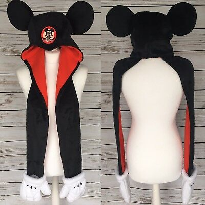 Disney Mickey Mouse Mouseketeers  Winter Hat Scarf & Glove Set Disney Parks