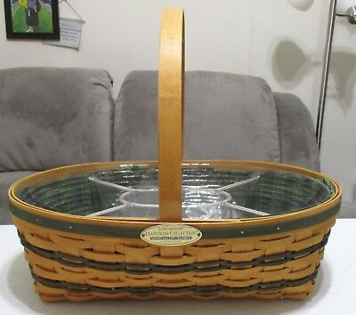 Longaberger 1998 Traditions Collection Hospitality Basket Combo w/2 Protectors