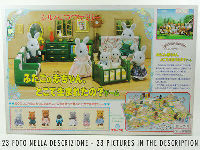 Sylvanian Families Board Game Where Was The Second Baby Born? 1985 Epoch Vintage