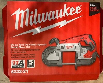 Deep Cut Variable Speed Band Saw Kit Milwaukee Electric Tools MLW6232-21 NEW