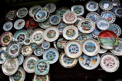 Vintage 1940-70 Souvenir Collector Plates Lot of 55 EACH U.S. STATE REPRESENTED!