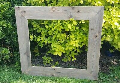A2 Picture Canvas Photo Frame Rustic Reclaimed Wood Chunky Wedding Gift Shabby