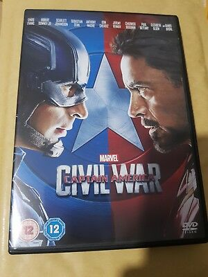 Marvel - Captain America - Civil War DVD - UK Region 2