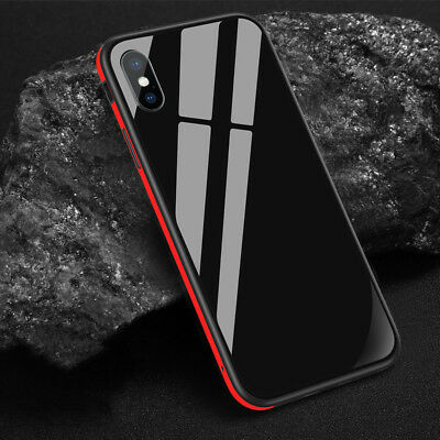 For iPhone XS Max XR 8 7 6Plus SULADA Metal Case Frame Tempered Glass Shockproof
