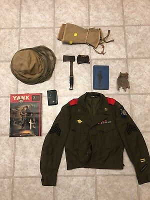 Super Rare WW2 US Army Airwaves Communications Bullion Patch Jacket And Big Lot