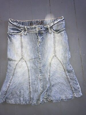 Old Navy Special Edition Maternity Skirt Denim Jean Below Belly Adjustable S
