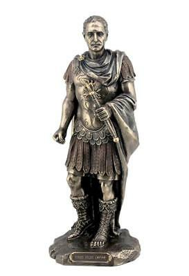 Gaius Julius Caesar in Roman Military Uniform Statue Ancient Rome Emperor