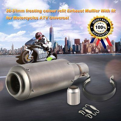38-51mm Frosting Color Refit Exhaust Muffler Pipe For Motorcycles ATV Universal~