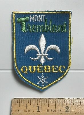 Mont Tremblant Quebec Canada Canadian Skiing Ski Resort Area Souvenir Patch
