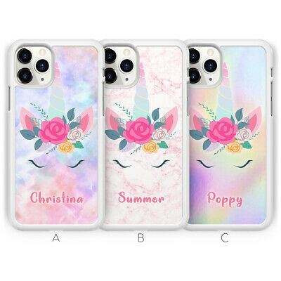 Personalised Unicorn Name Custom Initial Phone Case for iPhone  X XS XR 8 7 6 6S
