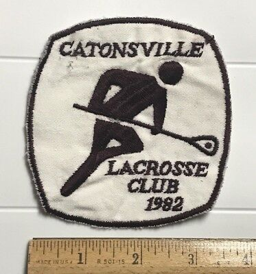Catonsville Maryland MD Lacrosse Club 1982 Souvenir Sport Team Patch Badge