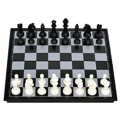 Portable Travel Magnetic Wooden Board Tournament Chess Set Wood Pieces