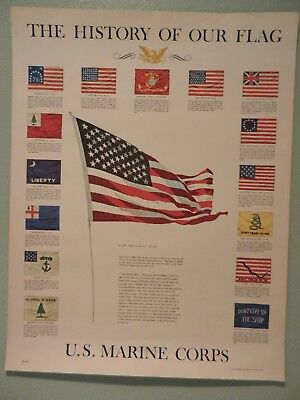 US Government Printing Office 1973 The History of Our Flag US Marine Corps Post
