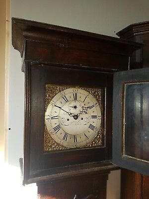 Welsh cottage Longcase Clock John Roberts Wrexham good colour to the oak 1770s
