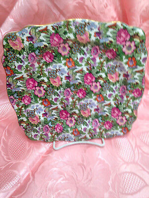 Square Chintz Tea plate by Crown Ducal