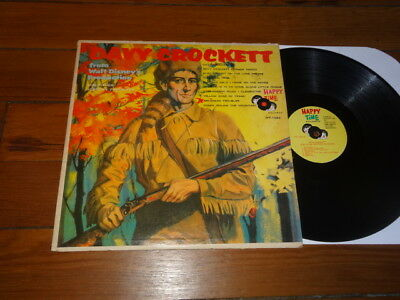 DAVY CROCKETT FROM WALT DISNEY PRODUCTIONS LP Happy Time Records HT-1022 RARE