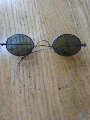 Antique Old Victorian Sunglasses wire frame, awesome lenses  ~ steampunk