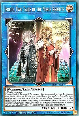 YuGiOh SOFU-ENSE1 Isolde, Two Tales of the Noble Knights Super Rare Limited