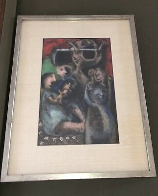 Original Oil Painting On Board. Framed. J.MONTANES. (1918-1998).Expressionist.