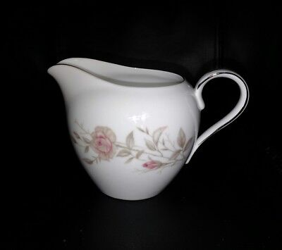 LAURA FINE CHINA of JAPAN #8542 CREAMER CREAM PITCHER. FLORAL DESIGN.
