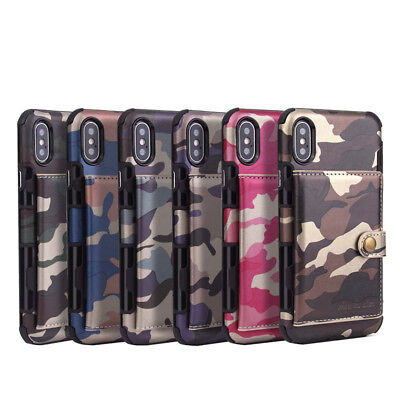 Leather Flip Wallet Card Holder Case Cover for iPhone X XS MAX XR 8 7 Plus
